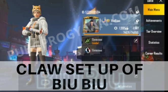 Claw Set up of Biu Biu Pubg Mobile