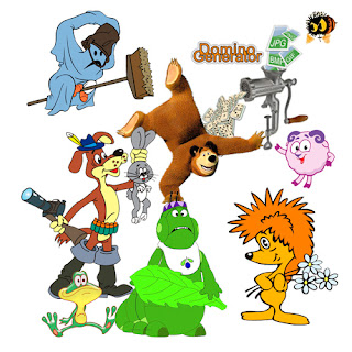 домино с героями отечественных мультфильмов