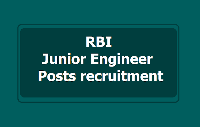 RBI Junior Engineer Posts