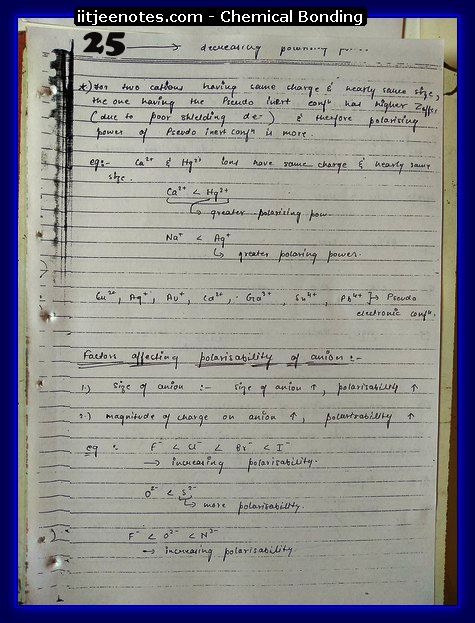 Chemical Bonding Notes IITJEE 1