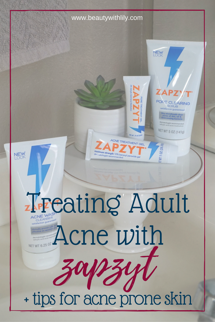 How To Treat Acne With ZapZyt + Tips For Acne Prone Skin | Battle those pesky breakouts with a line made just for acne prone skin. // Beauty With Lily, A West Texas Beauty, Fashion & Lifestyle Blog http://primp.in/J9COooF3EV