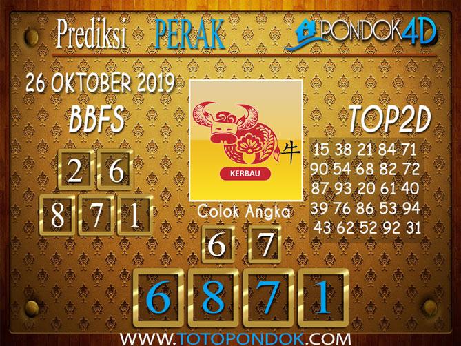 Prediksi Togel PERAK PONDOK4D 26 OKTOBER 2019