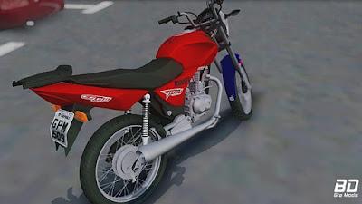 CG Titan 150 Montadinha para GTA San Andreas - Traseira