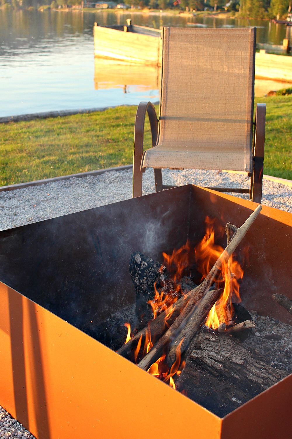 Lakeside Fire Pit Lake Life