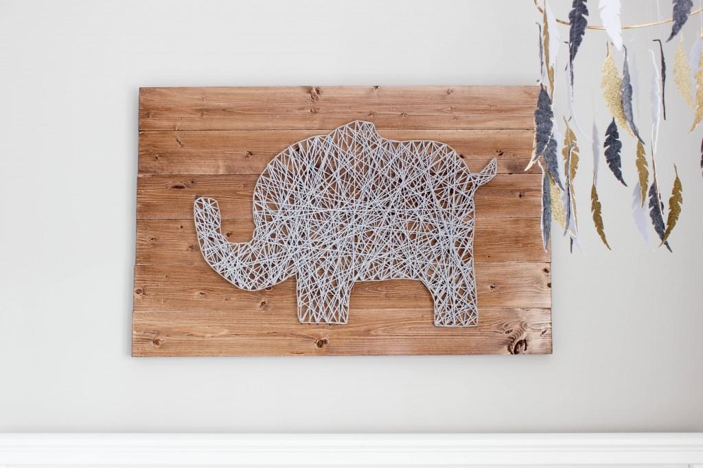 i d e a elefante con clavos e hilos tensados. Black Bedroom Furniture Sets. Home Design Ideas