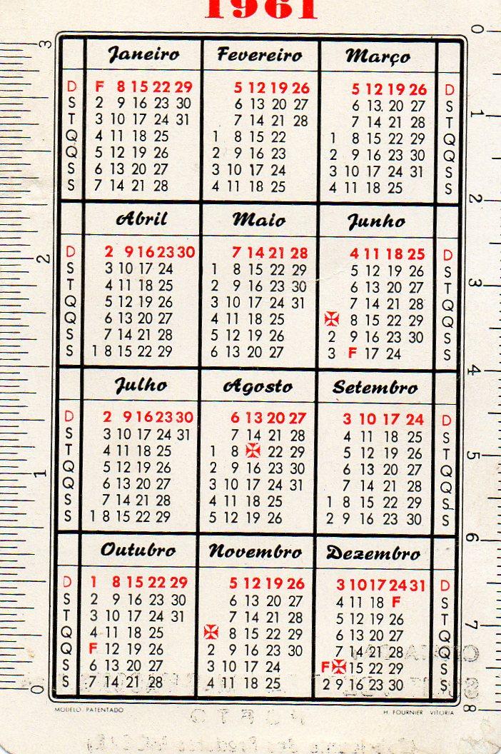 Calendario Del 1961.Colecciono Calendarios Calendarios Fournier Con Pie De