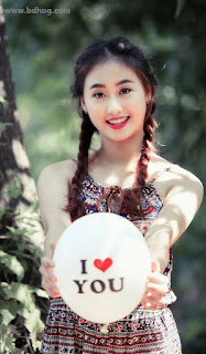 China Cute Girl I Love You Picture Message