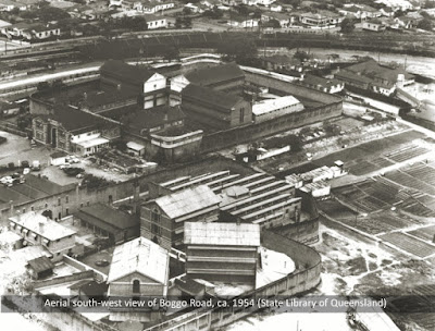 Brisbane's Boggo Road Gaol as it looked in the mid-1950s.
