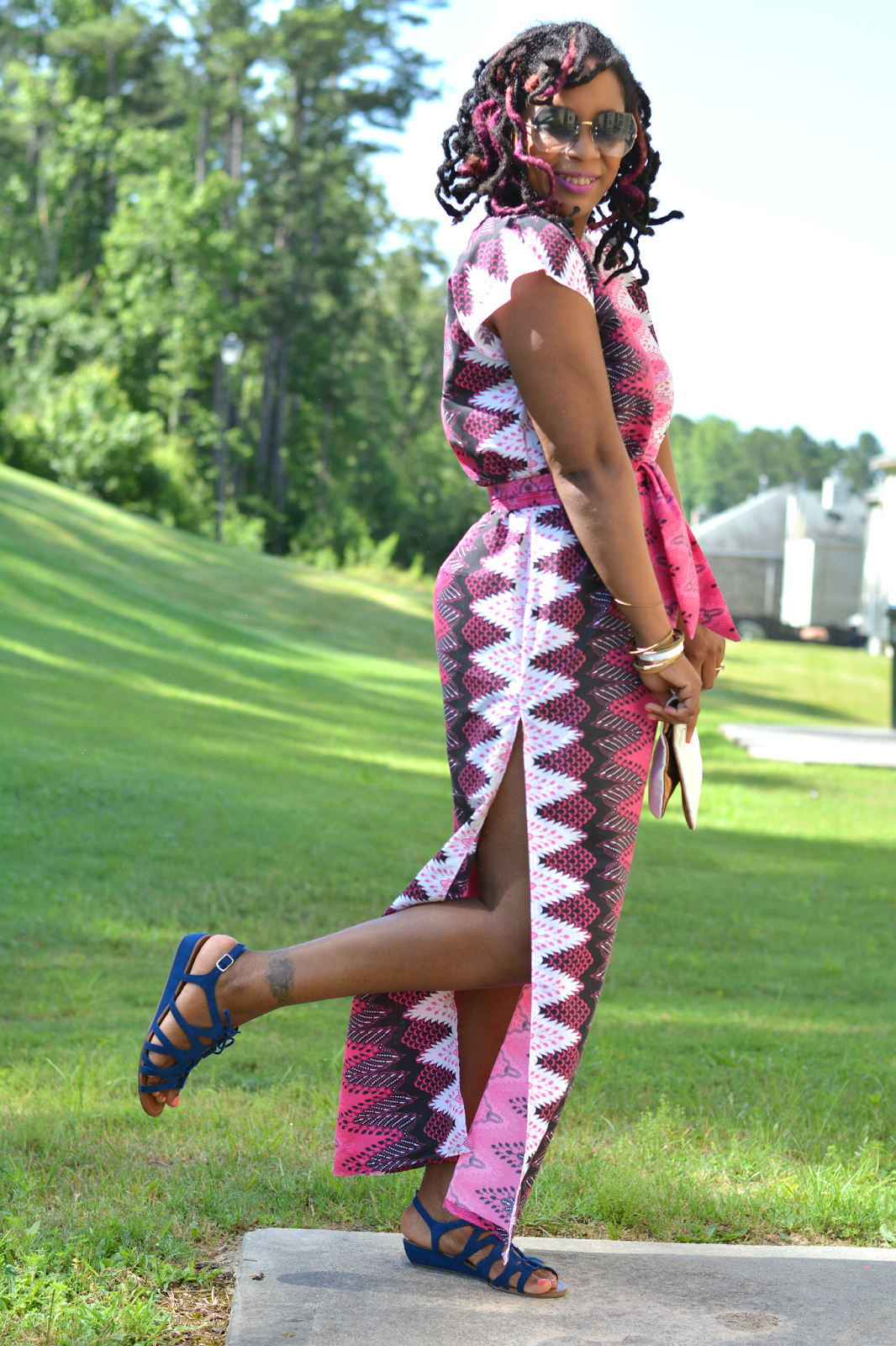caftan with ankara print fabric