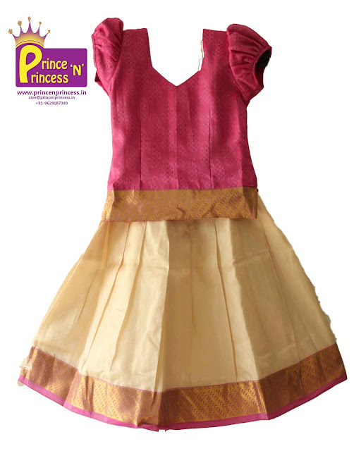 kids pattu langa lehenga ghagra pavadai new born cradle naming ceremony
