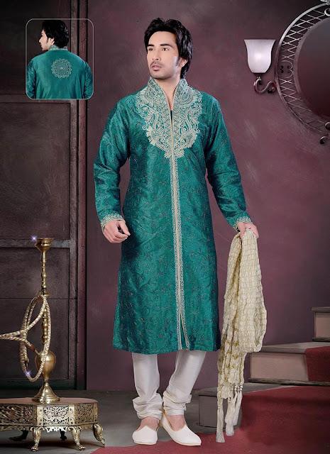 Stylish Art Dupion Silk Kurta Pyjama