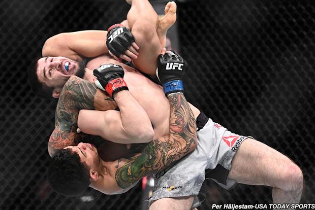 UFC Prague : Diego Ferreira Defeats Rustam Khabilov Via Unanimous Decision