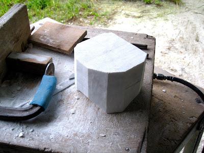 彫刻の制作過程