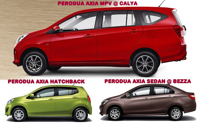 Perodua Axia Hatchback, Sedan & MPV