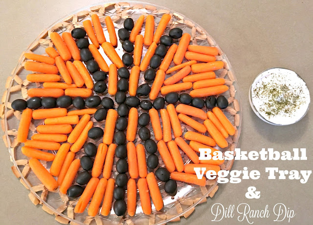 #GameforBasketball, #Ad, #CBias, Buffalo Chicken Slow Cooker Wings, Basketball Veggie Tray, Dill Ranch Dip, Easy Basketball Recipes, Basketball themed recipes