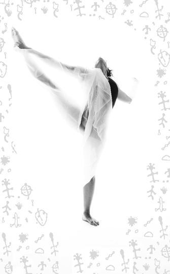 photograph of Maura Garcia dancing