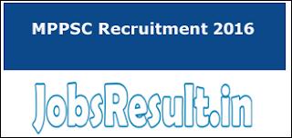 MPPSC Recruitment 2016