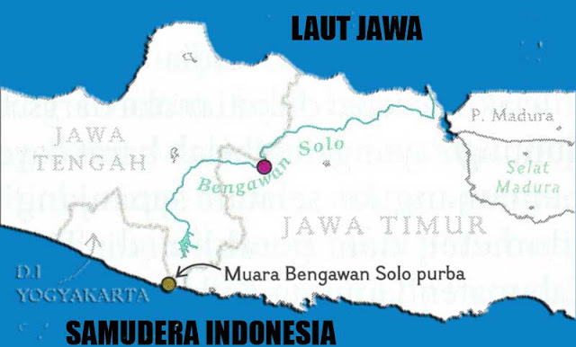 Gambar Peta aliran Sungai Bengawan Solo