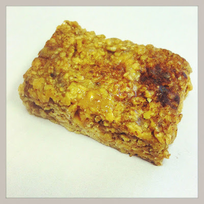 peanut butter and jelly low sugar cinnamon oatmeal bar