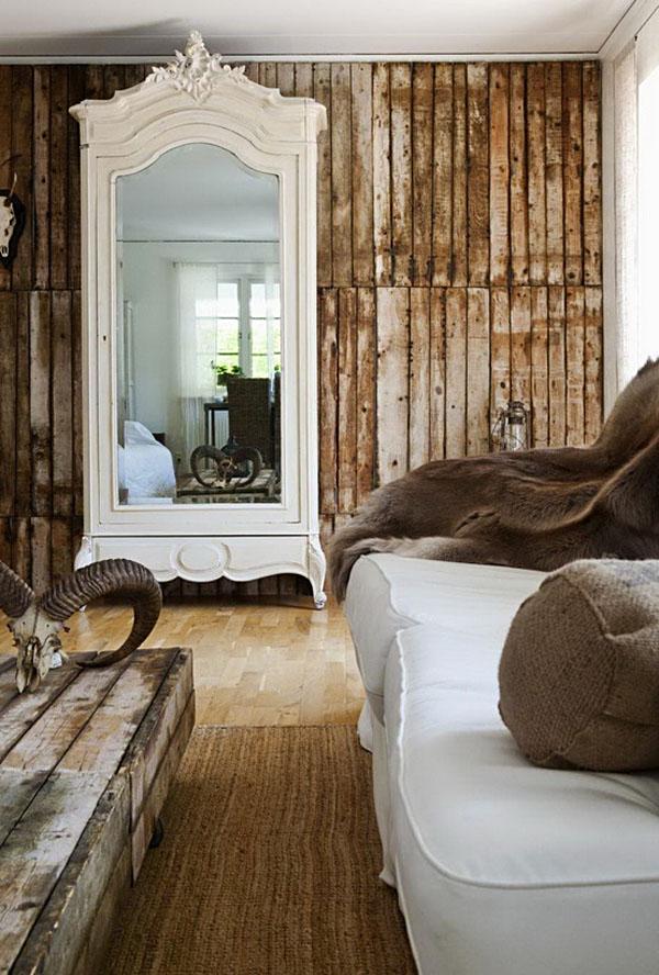 Rustik chateaux Decoracin con armarios antiguos