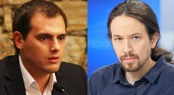 Albert Rivera y Pablo Iglesias