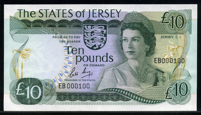 Foreign currency investing 10 Pounds Jersey's Banknote