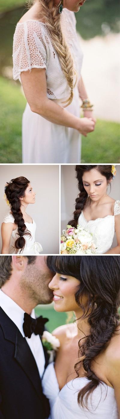 Idea para peinados de novia: Las trenzas