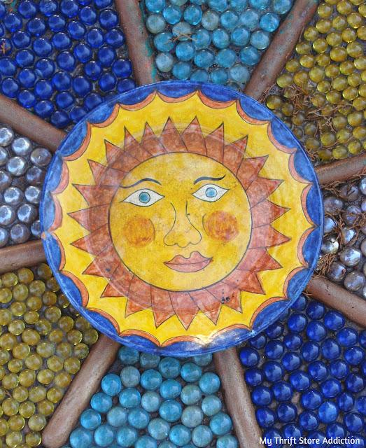 mosaic garden art camouflage