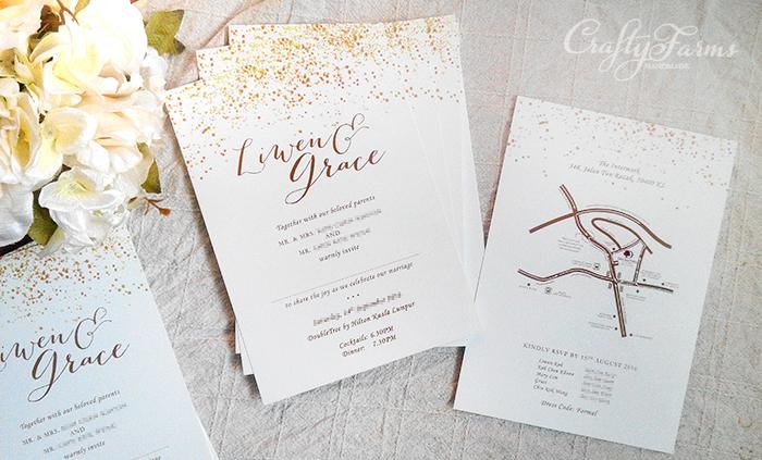 wedding card malaysia crafty farms handmade faux With wedding invitation card printing kl