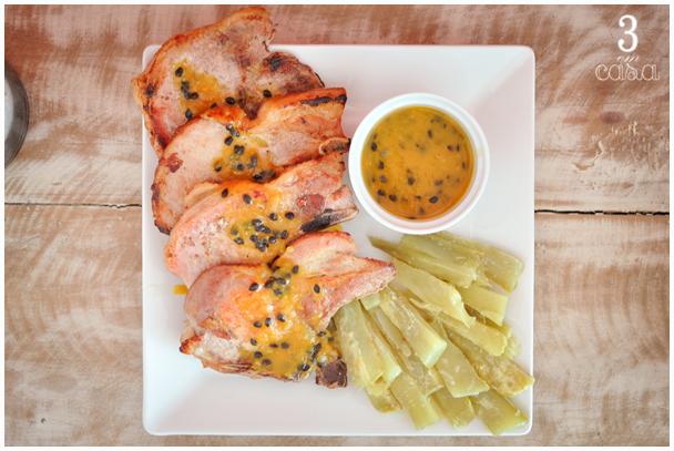 receita carré de porco ao molho de maracujá