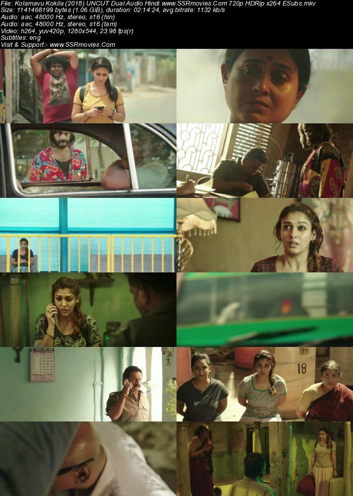 Kolamavu Kokila (2018) UNCUT Dual Audio Hindi 480p BluRay 400MB Movie Download