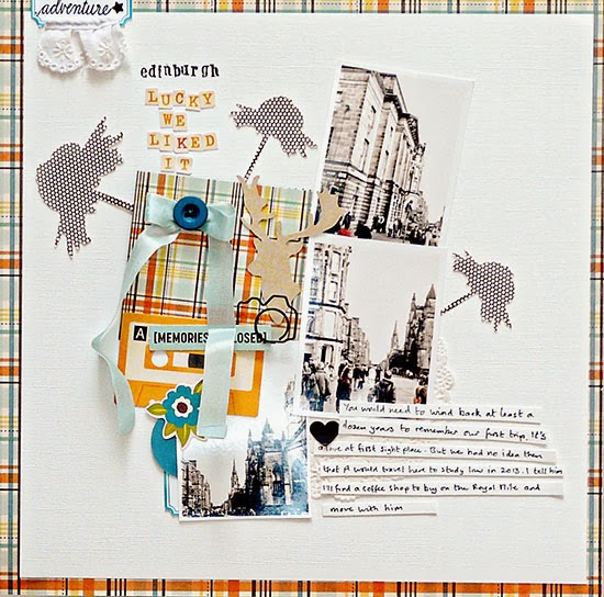From High In The Sky - scrapbooking with tartan for Get It Scrapped