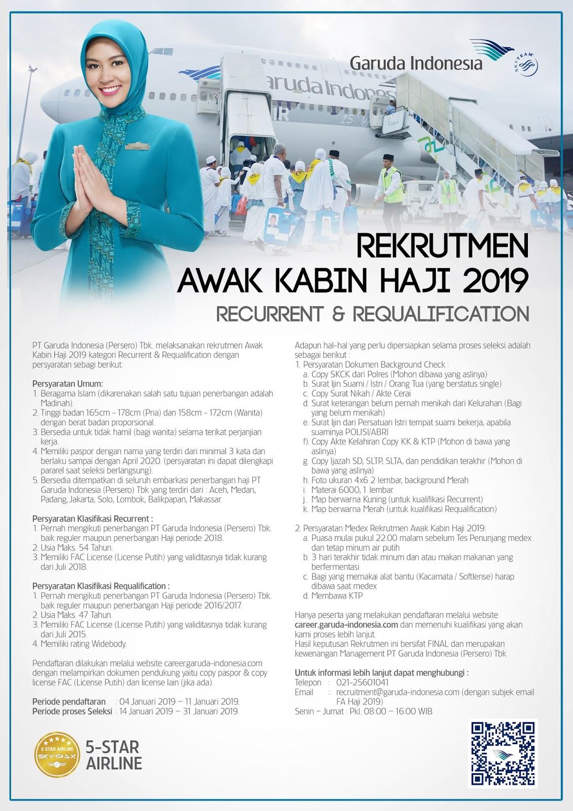 Lowongan Kerja Garuda Indonesia 2019