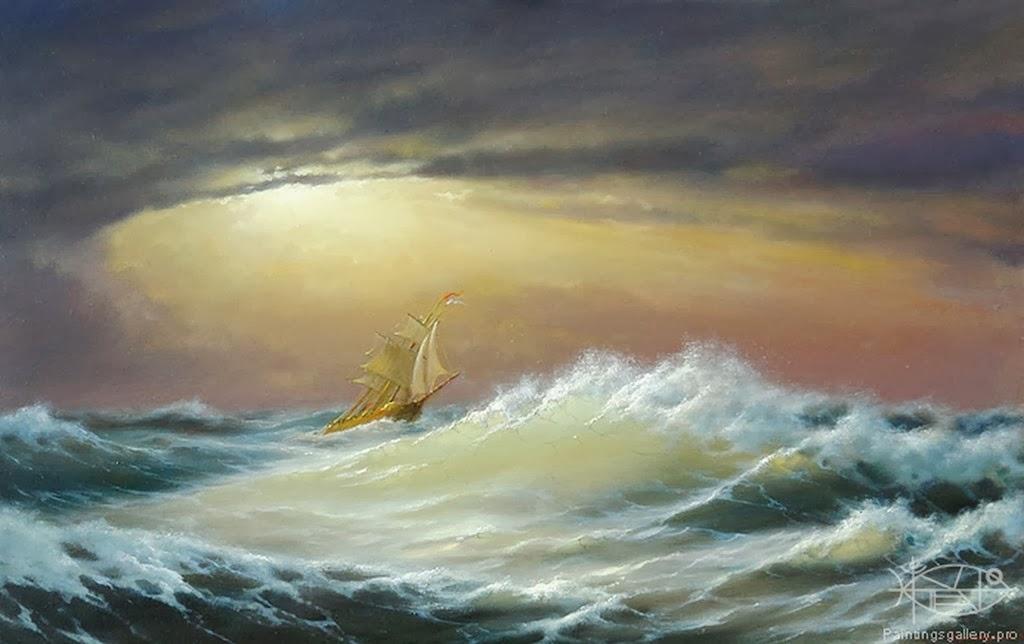 Cuadros modernos pinturas y dibujos barcos pintados en for Cuadros de marinas
