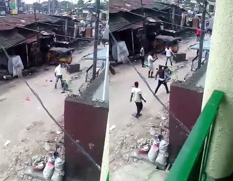 No man's land: See how hoodlums killed man in broad daylight during Lagos fight (video)
