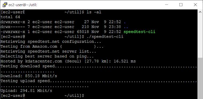 리눅스 네트워크 속도 측정 방법