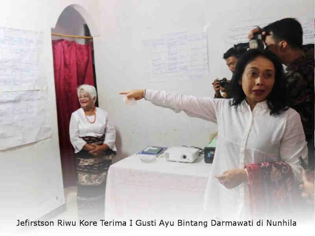 Jefirstson Riwu Kore Terima I Gusti Ayu Bintang Darmawati di Nunhila