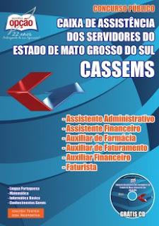 Apostila CASSEMS Mato Grosso do Sul 2015.