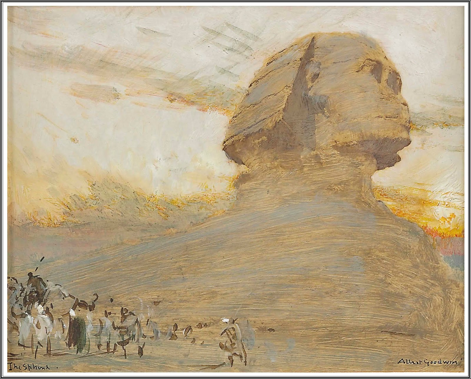 Le Prince Lointain Albert Goodwin 1845 1932 The Sphinx