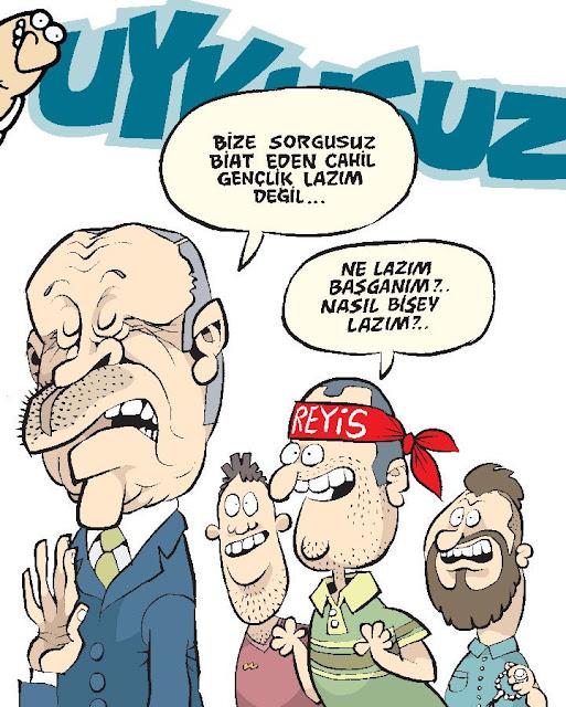 tayyip erdoğan karikatür