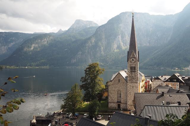 view from church in Hallstatt