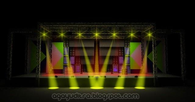 Aga Yuditra Blog Lampu sorot panggung  stage 3dsMax Vray