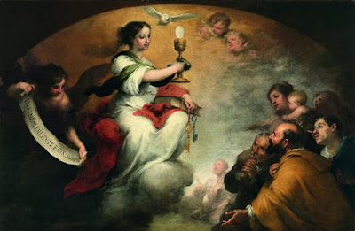 El triunfo de la Eucaristía - Murillo - 1662/65 Óleo sobre tela, 165 x 251 cm Oxfordshire, Faringdon Collection, Buscot Park