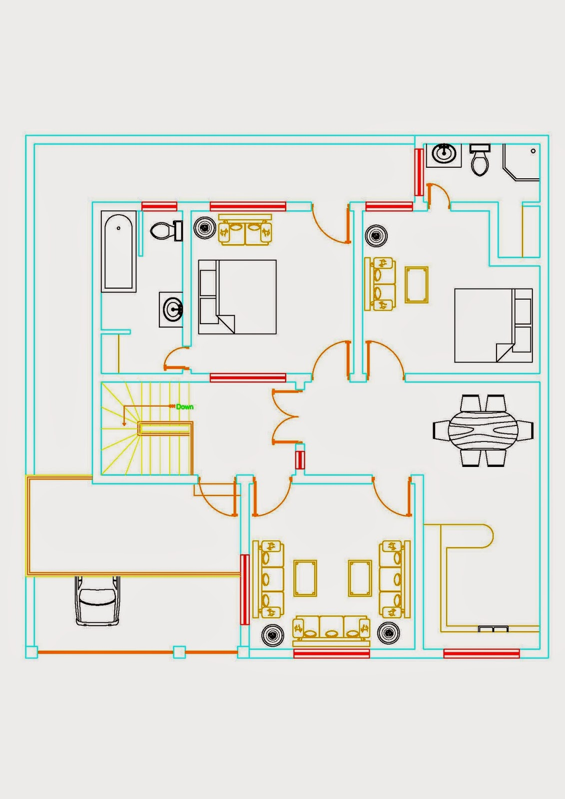 Draw House Map Online Building Plans Autocad Drawings