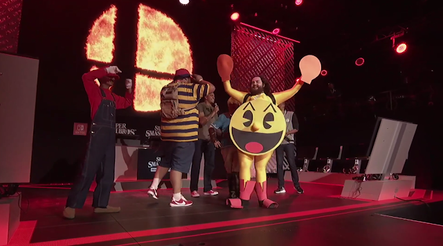 Super Smash Bros. Ultimate invitational Pac-Man cosplayer