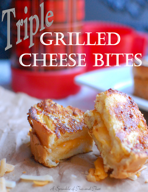 Triple Grilled Cheese Bites