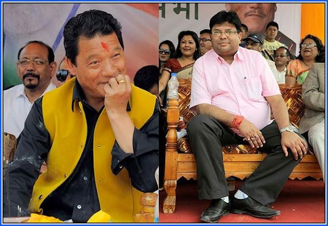 Gorkha Janmukti Morcha leaders Bimal Gurung and Roshan Giri