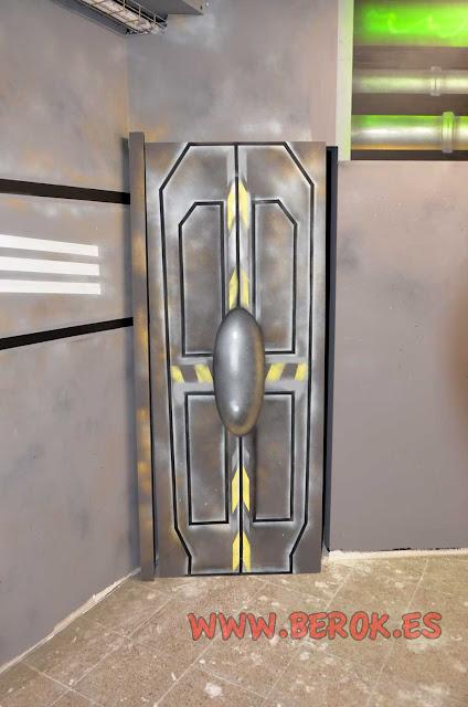 Tuneado de puerta espacial del parque