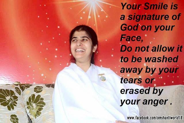 Smile Is Signature Of GOD - OMSHANTIWORLD