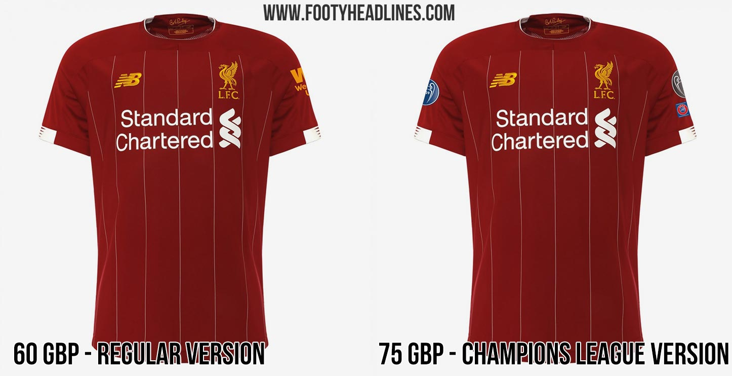 half off a2bdd 0db9e Liverpool Charges 27 GBP Extra For Champions League ...